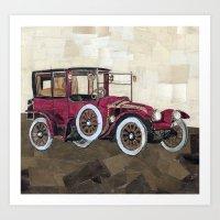 1912 Renault type CB coupe de ville Art Print