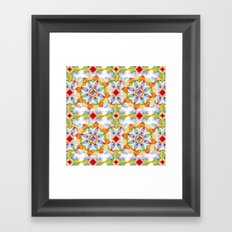 Flower Garden Kaleidoscope Framed Art Print