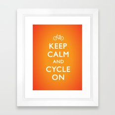 Keep Calm and Cycle On Framed Art Print