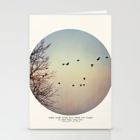 birds Stationery Cards featuring Caged Birds by Tina Crespo