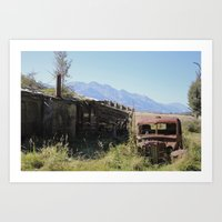 new zealand Art Prints featuring New Zealand, Old Zealand by Andy Little