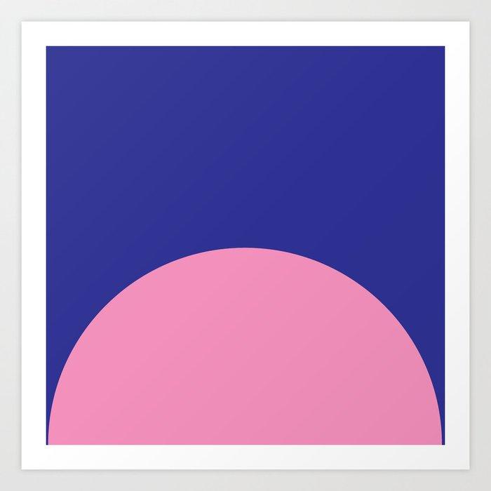 Blue Rising Art Print