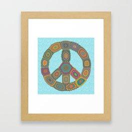 Peace is Groovy Framed Art Print