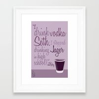 entourage Framed Art Prints featuring Tv drink quotes [entourage] by Fabio Castro