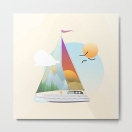 Seaside Vacation Metal Print