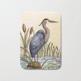 Blue Heron Bath Mat