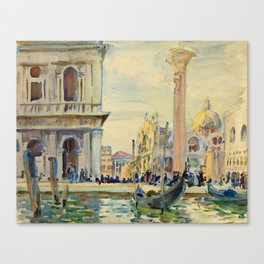 John Singer Sargent - The Piazzetta.Venice Canvas Print