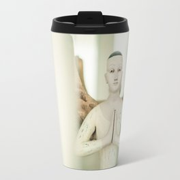 Doll put the palms of the hands together in salut Travel Mug