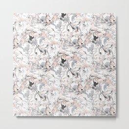 Marbleized - Pink Metal Print