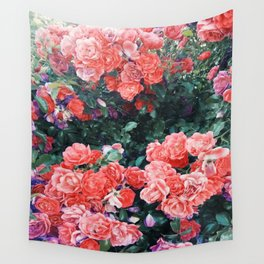 Psychedelic summer florals Wall Tapestry