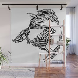 Siamese Fighting Fish Wall Mural