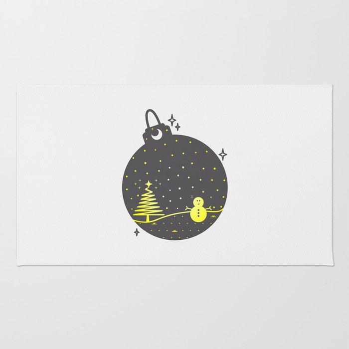 Christmas inside a sphere Rug
