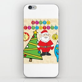 Santa & the Tree iPhone Skin