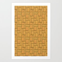 Mustard Blocks Art Print
