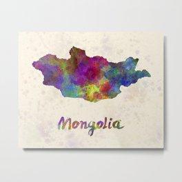 Mongolia in watercolor Metal Print