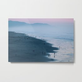 At the Beach at Sunset Metal Print