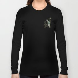 Turquoise Peacock Long Sleeve T-shirt