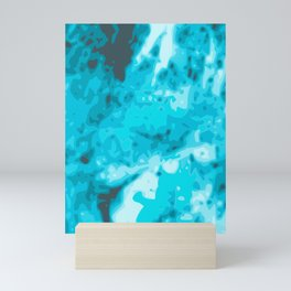 Blue - White Abstract Vector Texture Mini Art Print