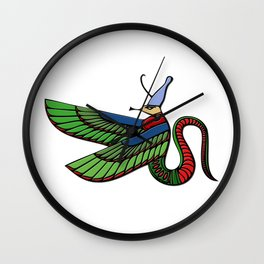 Dragon - demon of ancient Egypt Wall Clock