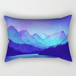 Cerulean Blue Mountains Rectangular Pillow