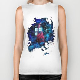 Time And Space Mist Tardis Doctor Who Biker Tank