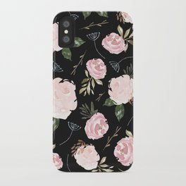 Floral Blossom - Dark Background iPhone Case