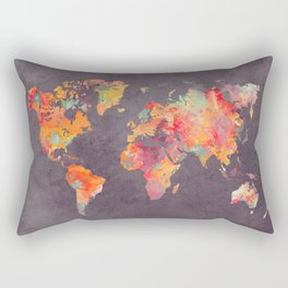 world map 67 Rectangular Pillow