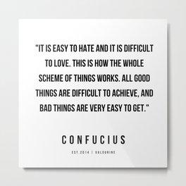 46  | Confucius Quotes | 200202 Metal Print