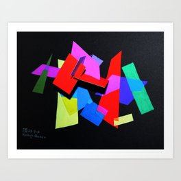 Colored Layers Art Print