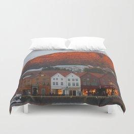 Bergen Landscape  Duvet Cover