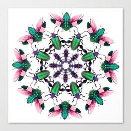Bug Mandala 2 Canvas Print