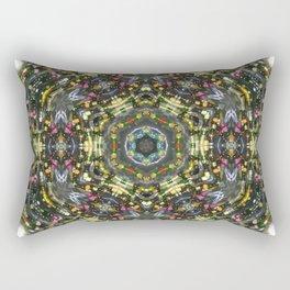 mandala, in the style of boho Rectangular Pillow