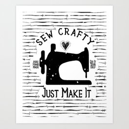 Seam art prints society6 sew crafty just make it do it yourself art print solutioingenieria Gallery