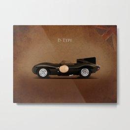 Jaguar D-Type Metal Print