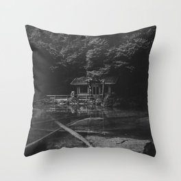 Cottage (Black and White) Throw Pillow