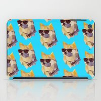 doge iPad Cases featuring Polygonal Doge  by Michael Fortman