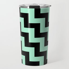 Black and Magic Mint Green Steps LTR Travel Mug