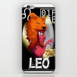 """LEO"" Zodiac Card iPhone Skin"