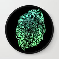 zentangle Wall Clocks featuring Zentangle by Riaora Creations