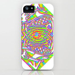 celtic knotted diamond iPhone Case