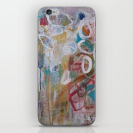 Playing in the Garden - Abstract Modern Contemporary Flowers iPhone Skin