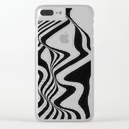 Funky Stripes Clear iPhone Case