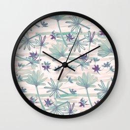 Sea floral print Wall Clock