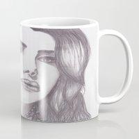 celebrity Mugs featuring Celebrity Portrait by N. Rogers Fine Art