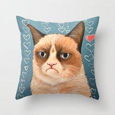 Grumpy Cat ... Love You Throw Pillow