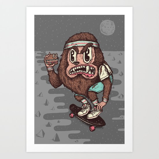 The Awesome Werewolf. Art Print