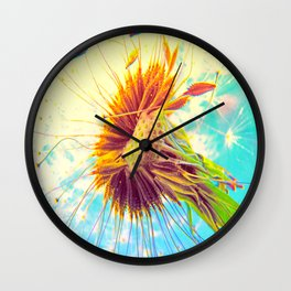 Dandalion explosion Wall Clock