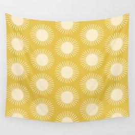 Golden Sun Pattern III Wall Tapestry