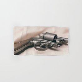 Ancient revolver. Old gun. Hand & Bath Towel