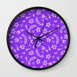 Macy - purple Wall Clock